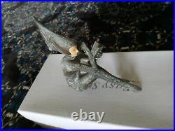 JB HIRSCH Gerdago PIXIE Metal Bookends Vintage Art Deco NO Marble Pair of 2