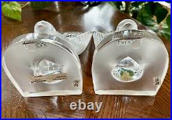Lalique Deux Hirondelles (Two Swallows) Hirondelle Bookends Mint Gorgeous