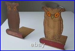 Marianne Brandt for Ruppelworks Bauhaus Owl Metal Bookends, 1920s, German Art De