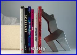 Memphis Milano Post Design Doorman Doorjamb/Bookend By Gaby Klasmer Silver 707