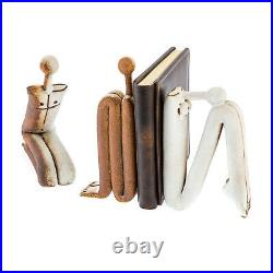 Modern Book End or Figurine Sculpture, Handmade Ceramic Original Art Decor, 11'