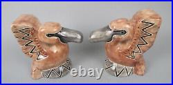 Modernist Art Deco Shearwater Pottery Pelican Bookends Walter Inglis Anderson
