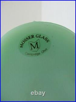 Mosser Glass Jadeite Grecian Pony Trojan Horse Mid Century Art Deco 11.5