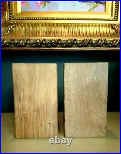 Mouseman Hand Carved Bookends. Solid Oak With Signature Mouse. Robert Thompson