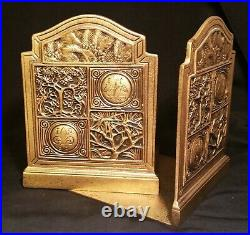 NYC DECO tiffany studios bronze bookends antique sculpture vtg book table art