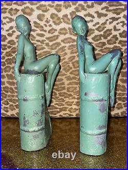 Original Frankart Pair B-406 Art Deco Nude Signed Bookends