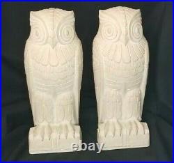 PAIR ART DECO LIBRARY OF CONGRESS cast stone OWL BOOKENDS JOHN ADAMS BUILDING