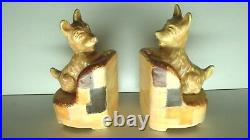 Pair Beswick Pottery Scottie Dog Bookends #87 Art Deco Statues