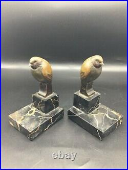 Pair of French Art deco Bookends signed Lelievre