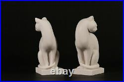 Pair of Marble Cats, Marble Classical Sculptures, Art Deco, Gift, Ornament