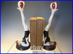 Pr Art Deco Inspired Lady Swimmer Bookends
