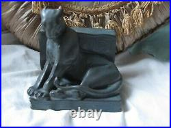 Rare 1921 ROOKWOOD PANTHER BOOKEND / PAPER WEIGHT by William Purcell McDonald