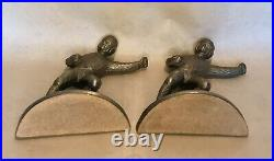 Rare Antique Hubley Football Player Grid Iron Bookends #416