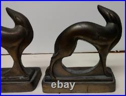 Rare Art Deco Frankart Inc PAT APPL D FOR Greyhound Bookends
