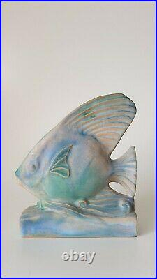Rare Bourne Denby Danesby Ware Pastel Fish Bookend Art Deco 1930s