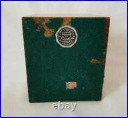 Rare Pair Of Vintage Sylvac Green Snub Nose Rabbit Bookends Oak & Ceramic