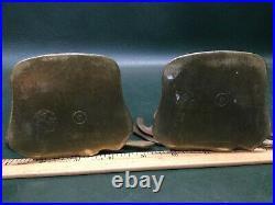 Rare Pair of ART DECO Hound Dog Bronze Brass Silhouette Bookends Signed RW