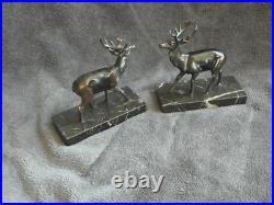 Retro bookends deer Art Deco savannah Stunning animal wild figurine book old