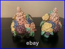 Rookwood Flower Basket Bookends Dated 1927 Designed By Kataro Shirayamadani