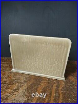 Rookwood Letter holder with pockets Pottery High Glaze Brown 7