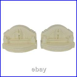 Rookwood Pottery 2000 White Union Terminal Limited Edition Bookends 6378