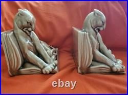 Rookwood pottery 1944 Panther bookends or paperweights