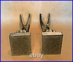 Seagulls on Waves Art Deco Bookends