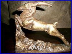 Set of Vintage Art Deco Gazelle Bookends Book Ends
