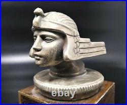 Stutz Bearcat Sun God Art Deco Radiator Cap Hood Ornament Pair of Bookends