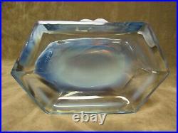 Super Rare Duncan Miller Glass 1940's Sanibel Shell Blue Opalescent Bookend Vase