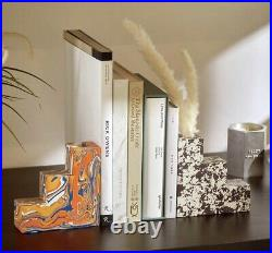 Swirl Stepped Bookends Tom Dixon