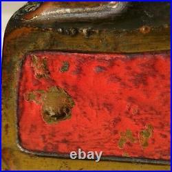 The Good Fairy bronze bookends JMP circa 1912, 7 5/8x 4 1/2x 2 1/2