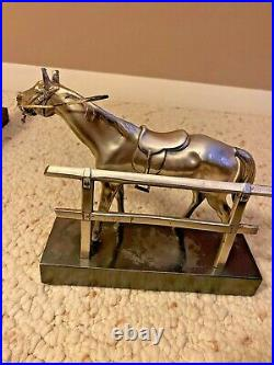 VINTAGE ART DECO Jennings Brothers Horse Bookends Sculptures Signed Ships Free