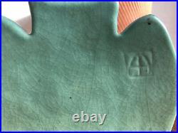 Van Briggle Pottery Ming Blue Owl Bookends Vintage 1920-1940