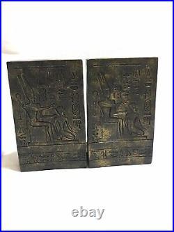 Veronese Vintage Art Deco Egyptian 6.5 Tall Rare Bookends