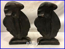 Vintage 1929 Art Deco Cast Iron Bronze Finish MISS MODERNE Lady Bookends