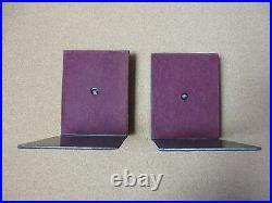 Vintage Art Deco L. E. Mason Co. Bronze Monogram Metal Bookends Letter L (PG1401)