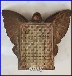 Vintage Art Nouveau Bronze Butterfly Girl Bookends 1920's