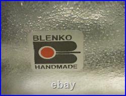 Vintage Blenko Ice Block Glass Bookends, Wedge Shape 1980's. Excellent