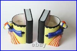 Vintage Czechoslovakia Art Deco Genie Ditmar Urbach Pottery Bookends