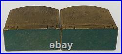 Vintage Egyptian Design CJO Art Deco Cast Iron Bookends Heavy 2 Lb Each