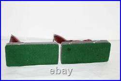 Vintage Jb Hirsch French Art Deco Red Pheasant Bookends/book Ends-marble Base