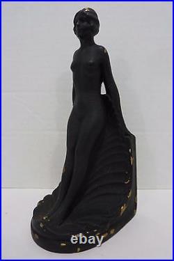 Vintage Nude Beauty Bookend Art Deco Design Lovely Lady Decorative Art Statue