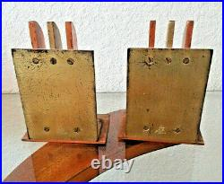 Vintage Pair of Chase Copper and Brass Heavy Bookends Free Shipping