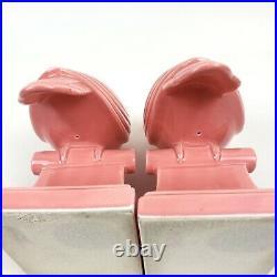 Vintage Pair of FITZ & FLOYD Art Deco Style Porcelain Dove Birds Figure Bookends