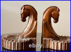 Vintage Trojan Horse Bookends Art Deco Bronze VERY NICE VINTAGE