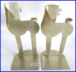 Vtg Franz Hagenauer Whw Wiener Werkstatte Sheet Metal Art Deco Horse Bookends