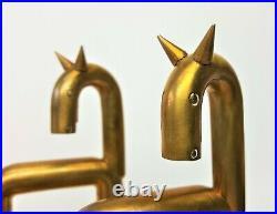 Walter Von Nessen Horse Bookends for Chase Copper & Brass Art Deco 1930s vintage