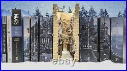 Wooden Alley Book Nook Shelf Insert Hogsmeade Theme Book Nook Bookend Model Kit